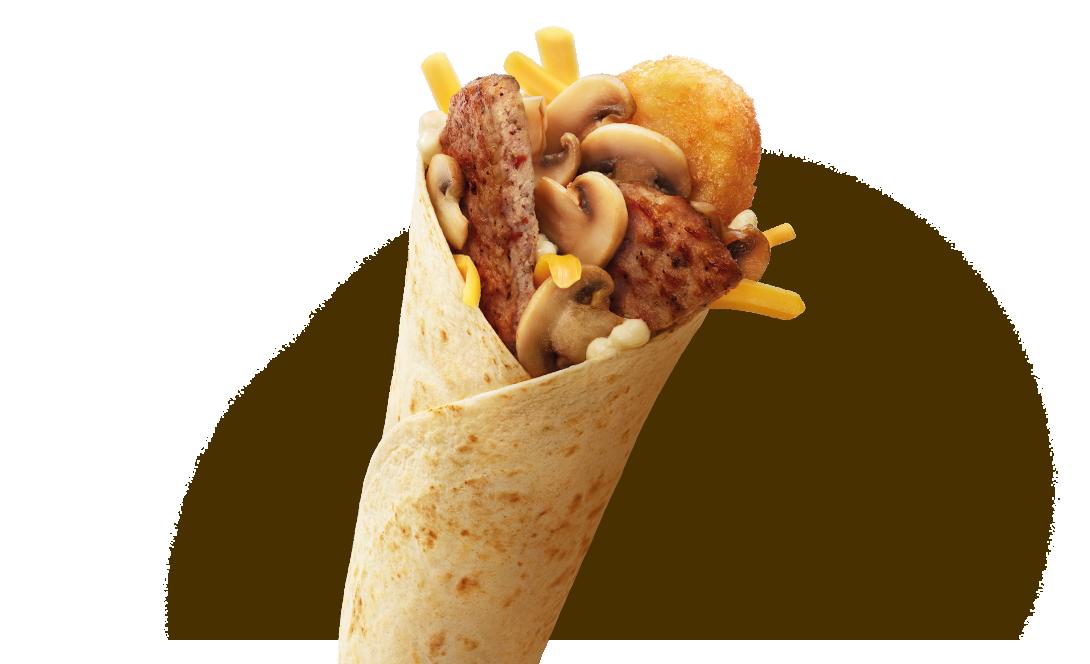 McWrap® Śniadaniowy Wieprzowy z Pieczarkami