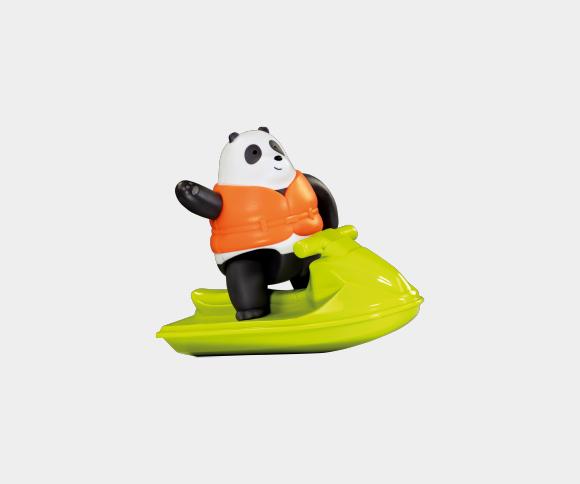Panda na skuterze wodnym