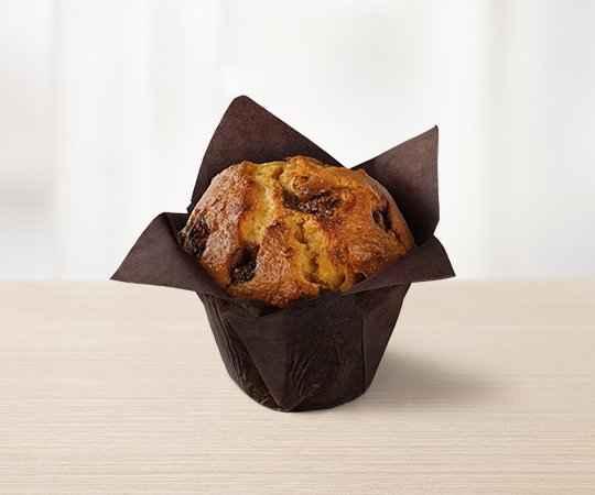 Muffin o smaku pomarańczowym z czekoladą