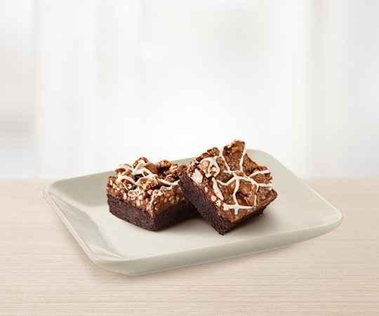 Popcorn brownie