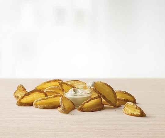 Swojskie kartofelki z sosem śmietanowym